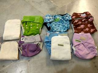Cloth Diapers (6 pieces)