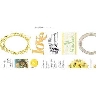 Yellow Vintage Washi Tape