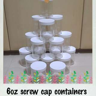 6oz screw cap clear plastic containers