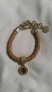 Mimco gold and brown bracelet