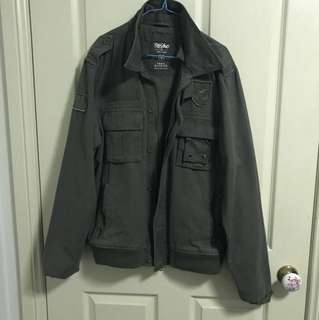 Mossimo Olive green military style jacket