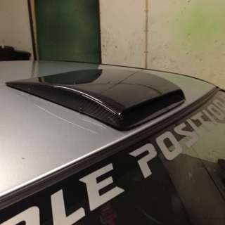 Carbon Print Roof Scoop Decorative! 3M Provided!