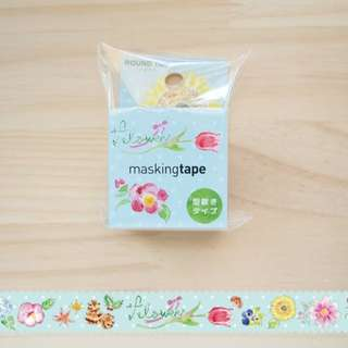 Round Top Flower Masking Tape