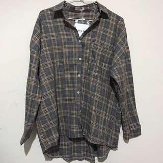 韓版格紋襯衫