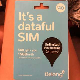 $40 15GB data sim
