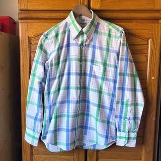 🚚 保證正品 thom browne 綠白格子襯衫