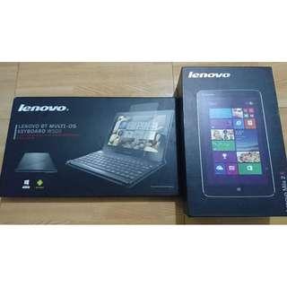 "Lenovo Miix 2/8 ""Silver"" with Lenovo BT Multi-OS Keyboard"