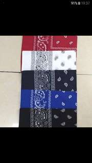 BANDANAS (5 Colors Available) (Updated: 26/12/2017)