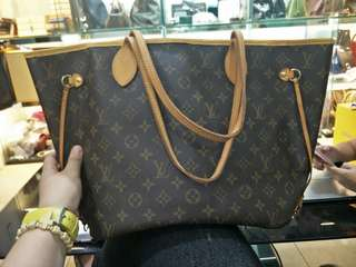 Authentic louis vitton neverfull bag