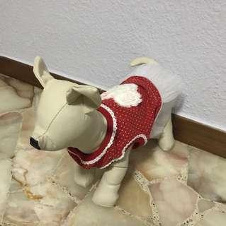 Dog red dress