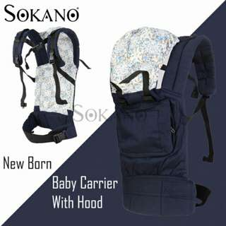 SOKANO 3 Position New Born Baby Carrier With Hood (3-20kg)