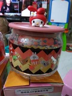 卡通玻璃储存罐連盒