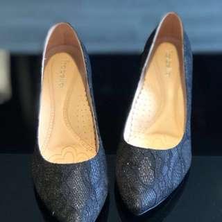 舒適蕾絲高跟鞋24.5cm