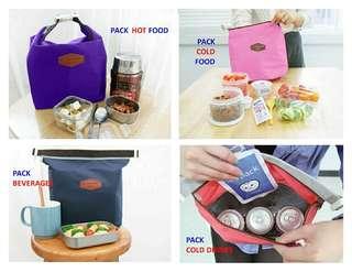 Lunch bag, tas bekal anak tahan panas,dingin, foil