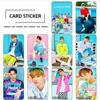 WANNA ONE CARD STICKER