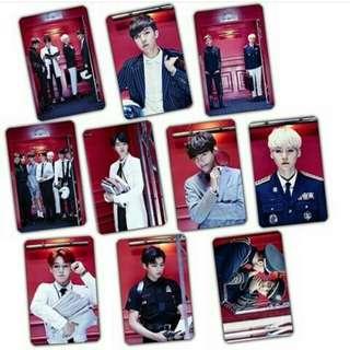 BTS STICKER CARD