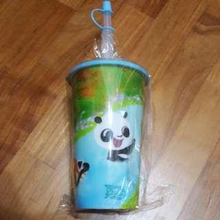 Straw cup (Safari Zoo / Panda design)