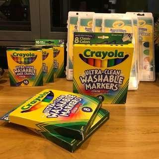 [LAST SET] Crayola Ultra Clean Washable Markers 8Ct
