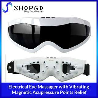 Electrical Eye Massager with Vibrating  Magnetic Acupressure Points Relief