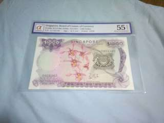 Singapore Orchid $1000 (Graded 55)