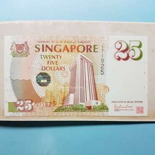 Singapore $25 note