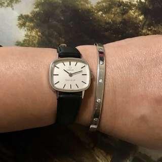 瑞士 Omega 歐米茄 稀有 古董 手動上鏈 女裝皮帶錶稀