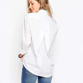 ASOS Slim Boyfriend Shirt with Pleat Detail