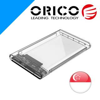 Orico SATA 2.5 inch HDD/SSD USB3.0 enclosure - Clear