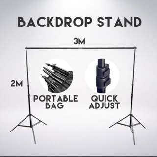 Photobooth backdrop stand rental