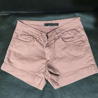 Maldita Red-Orange faded shorts