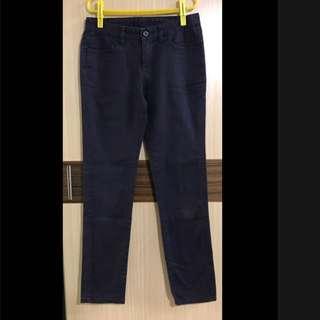 #好物免費送 深紫色 長褲 窄管褲 顯瘦