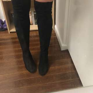 Therapy Thigh-High Suede Boots