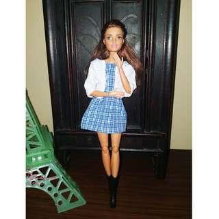 Blue Checkered Sweet Dress