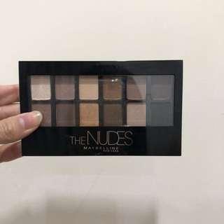 二手maybelline 媚比琳時尚伸展台訂製12色眼影盤 (nude1)