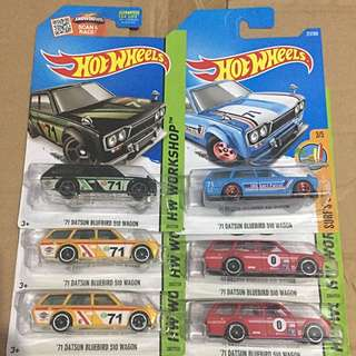 Hotwheels Datsun Bluebird Set