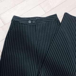 🚚 直紋高腰重磅西裝寬褲