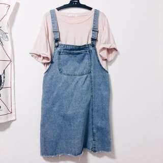 🚚 整套販售 韓製上衣+吊帶短裙
