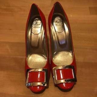 100% new! Roger Vivier RV 紅色高踭鞋 red high heels
