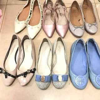 日本購入平底鞋 tory burch鞋 芭蕾舞鞋蝴蝶結係珍珠鞋