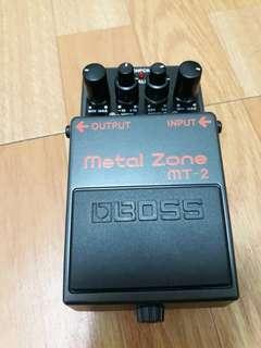 🚚 efek gitar boss metal zone 99% baru