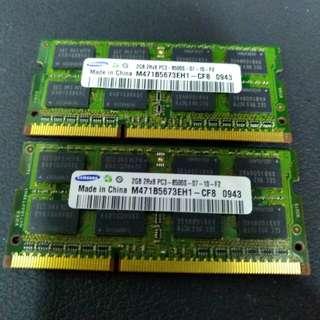 2G*2 DDR3 1066 Ram for Imac