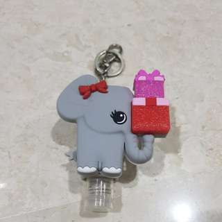 Disinfectant with elephant key chain