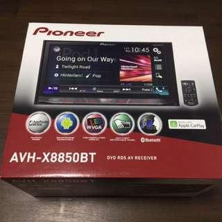AVH-X8850BT  Latest hi-end Pioneer car DVD USB BT Mirrorlink Apple car play player