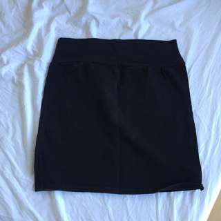 Cotton on black bodycon mini skirt