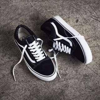 正品 vans運動鞋 滑板鞋 黑白經典鞋 男鞋女鞋