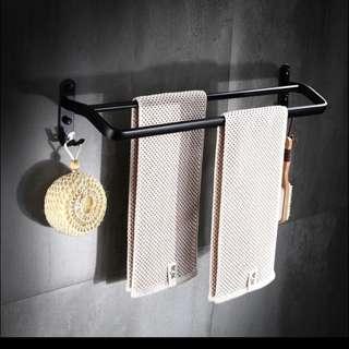 黑鋁毛巾掛架