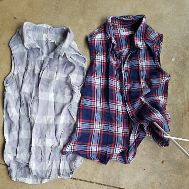 2 checked shirts size 10