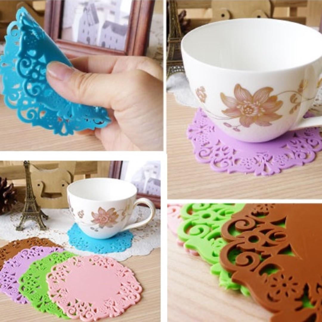 日韓系縷空蕾絲杯墊