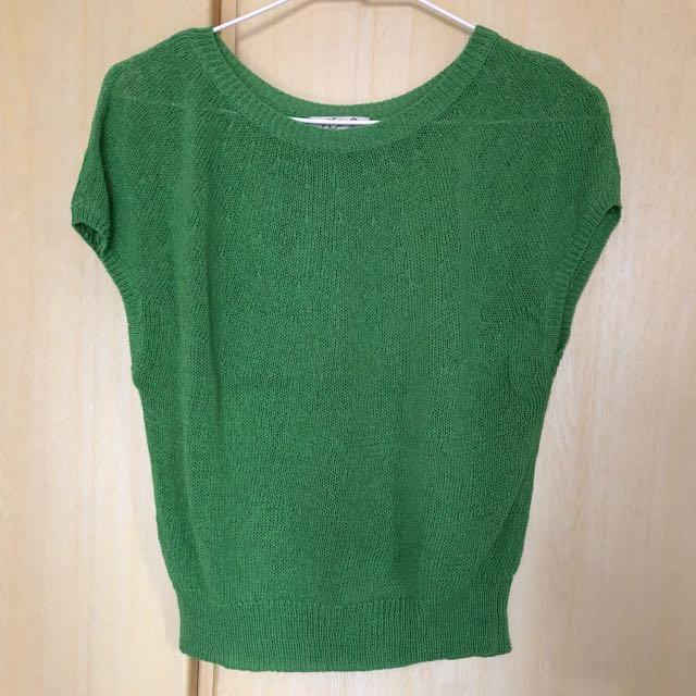 綠色鉤織罩衫