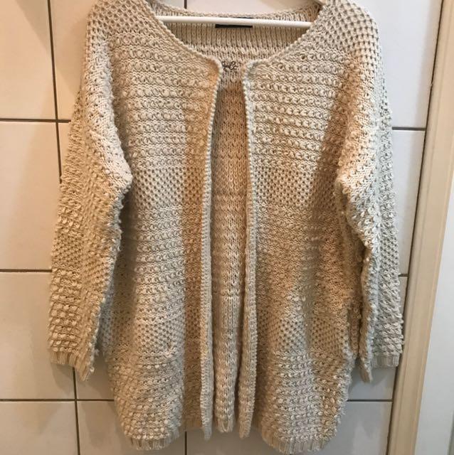 韓國 圈圈毛 針織毛衣外套